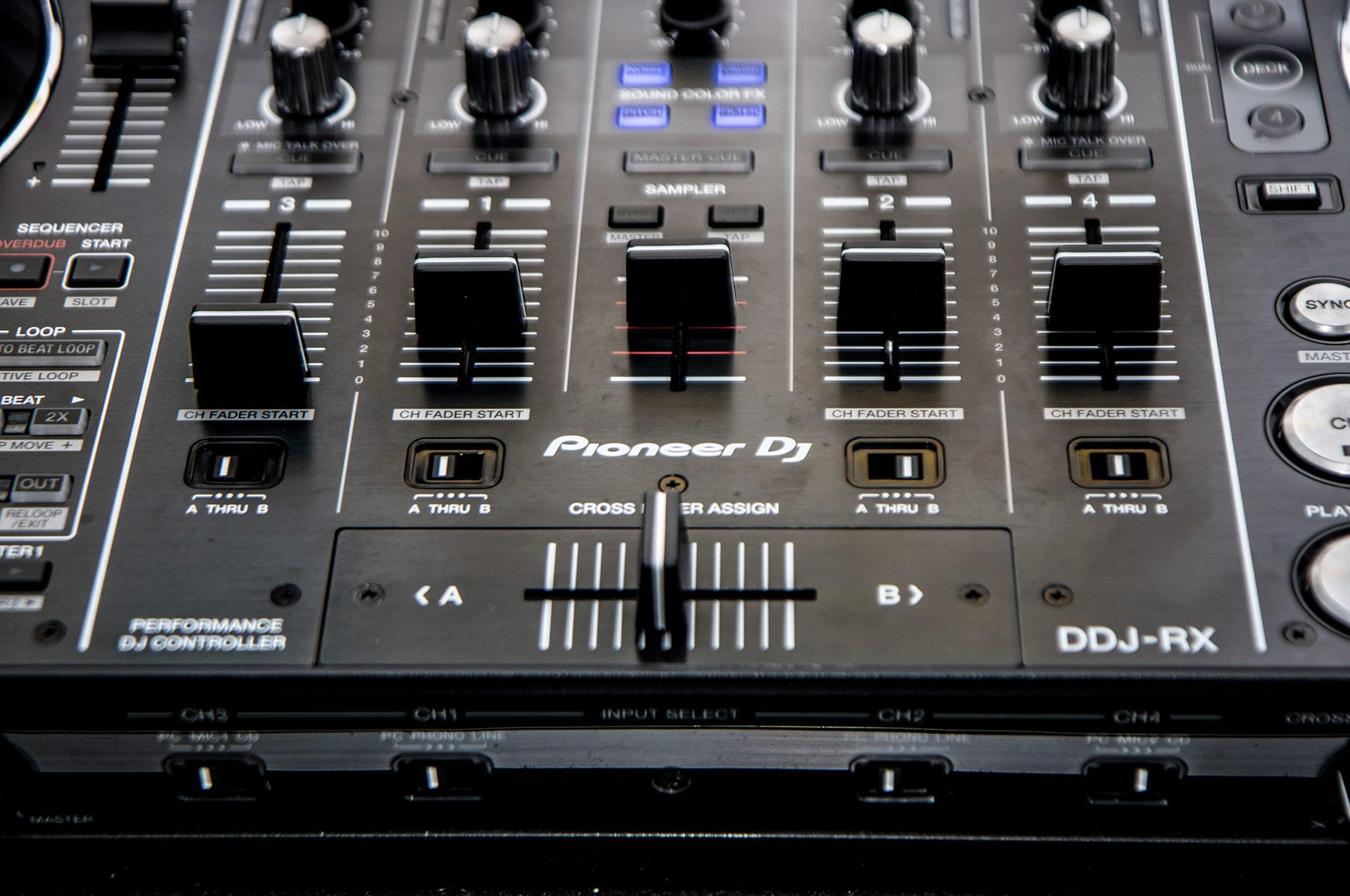 The DJ Booth Industry Standard Pioneer DDJ-RX Professional 4 -Channel controller