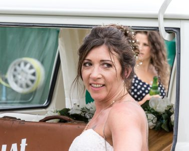 The VW Camper matches the VW DJ Booth supplied by Wedding DJ Cornwall.