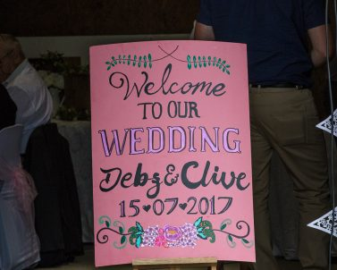 Welcoming everyone to Debz & Clive Wedding Party with Wedding DJ Cornwall.