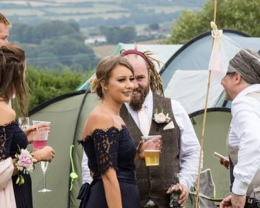 The outdoor music for their big wedding day was supplied by Wedding DJ Cornwall.