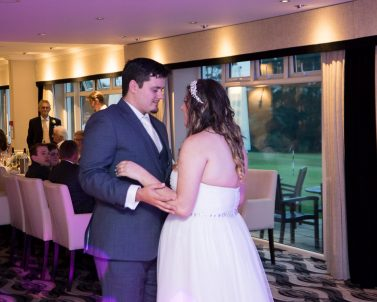 Our lovely Bride and Groom enjoying their first dance with wedding DJ in Cornwall.