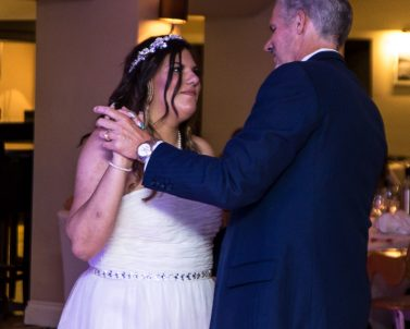 Bride & Father dance at Seb & Sam's Wedding Party with Wedding DJ Cornwall.
