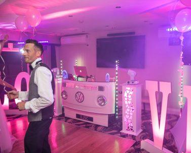 Haze always compliments a premium lightshow supplied by Wedding DJ Cornwall.