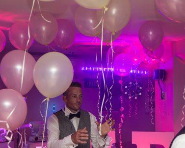 UV lights supplied for Darren & Aga wedding by Wedding DJ Cornwall.