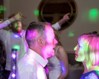 Pink & Green party lights the brides favourite colours supplied by Wedding DJ Cornwall.