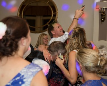 Capturing the action with a dance floor selfie while Party Dj in Cornwall smashing the party.