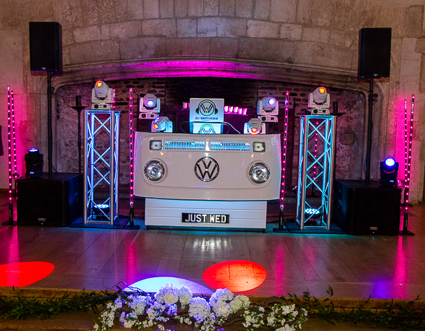 Premium Lighting and Audio supplied by Mobile DJ Cornwall.