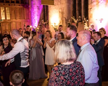 A great atmosphere for Mathew & Natalie Wedding with Mobile Dj Cornwall.