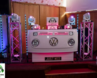 DJ Services Cornwall unique VW DJ Booth