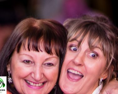 Happy Sisters enjoying their moment together at Yvonne & Kevins Wedding with Party DJ Cornwall.