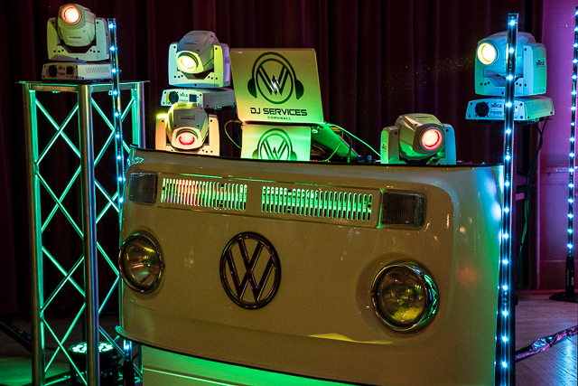 Party DJ Booth supplied by Wedding DJ Cornwall at The Atlantic Hotel Newquay.