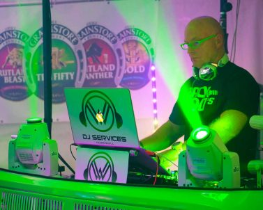 DJ Cornwall in action at the National Watersports Festival 2018.
