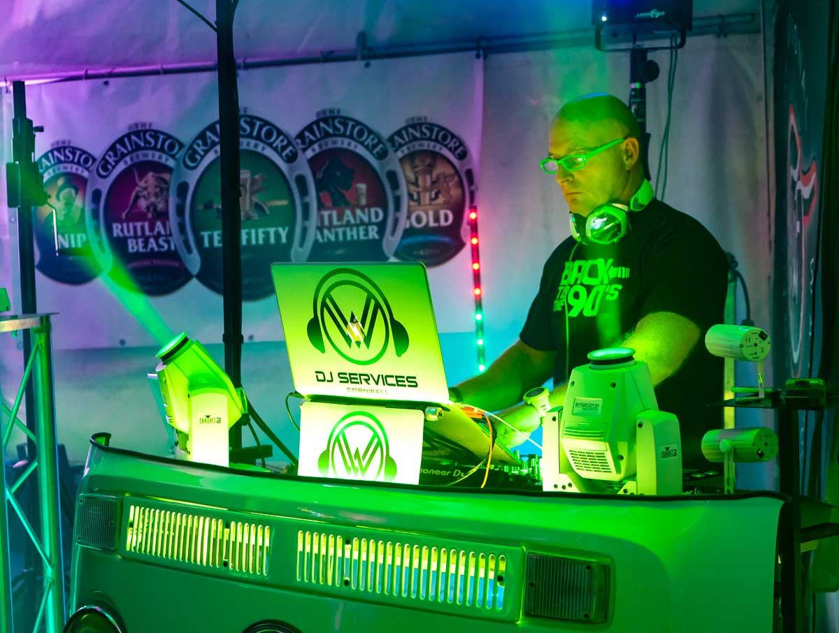 Allan Cross event DJ at the National Watersports Festival
