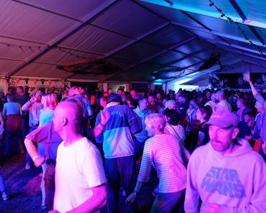 Event dance floor at the National Watersports Festival with Event DJ Cornwall.