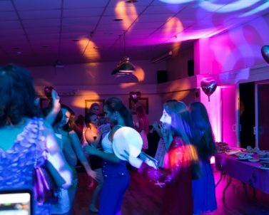 The importance of lighting makes to the atmosphere of a party canon be under estimated and all supplied by wedding DJ Cornwall.