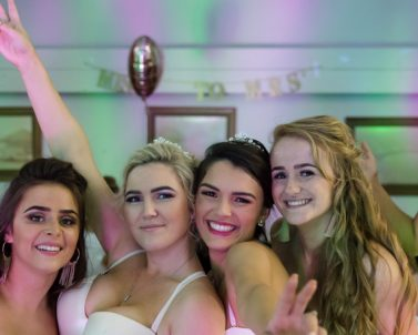 Lovely family pic of the ladies out celebrating their hen party with party DJ Cornwall.