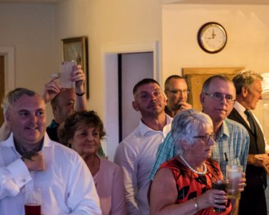 Full glasses as the guests get ready for a great party night with mobile DJ Cornwall