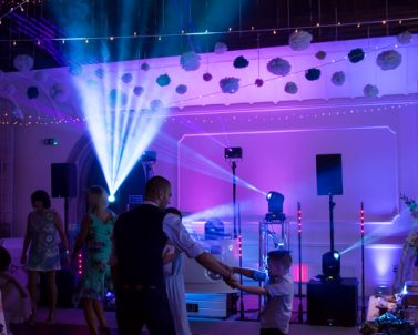 Mobile DJ Cornwall supplying the wow factor with their haze and laser show.