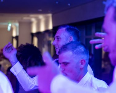 Yeh the groom have led the men onto the dance floor for a cracking tune supplied by mobile DJ Cornwall