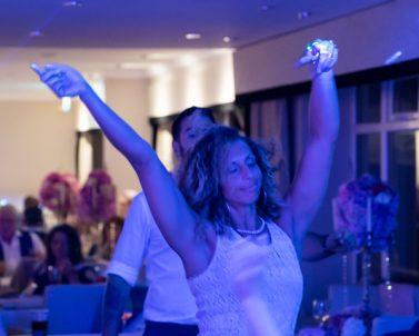 Letting my hair down and dancing the night away at Matt & Sams Wedding with Mobile DJ Cornwall at Carylon Bay Golf Club.
