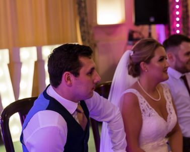 Mr & Mrs Party game always a good way to start the evening with Wedding DJ Cornwall