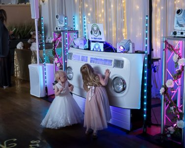 We can create any colour combination with our sophisticated lighting with Wedding DJ Cornwall.