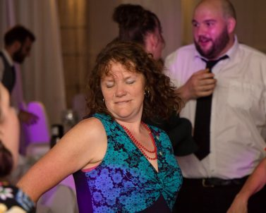 Knocking out the big moves on the dance floor with Mobile DJ Cornwall.