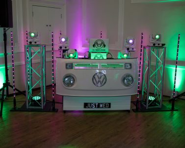 Lets get the party started the VW DJ Booth ready for the first dance.