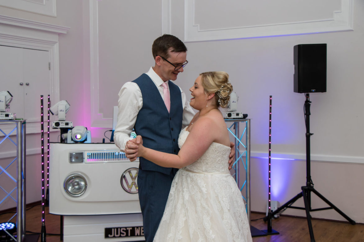First dance with Ashley & Steph at Tregenna Castle with Mobile Dj In Cornwall.