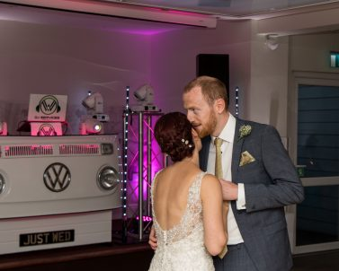 Lets get the party started with the first dance for Phill's and Sams wedding with our DJ Cornwall.