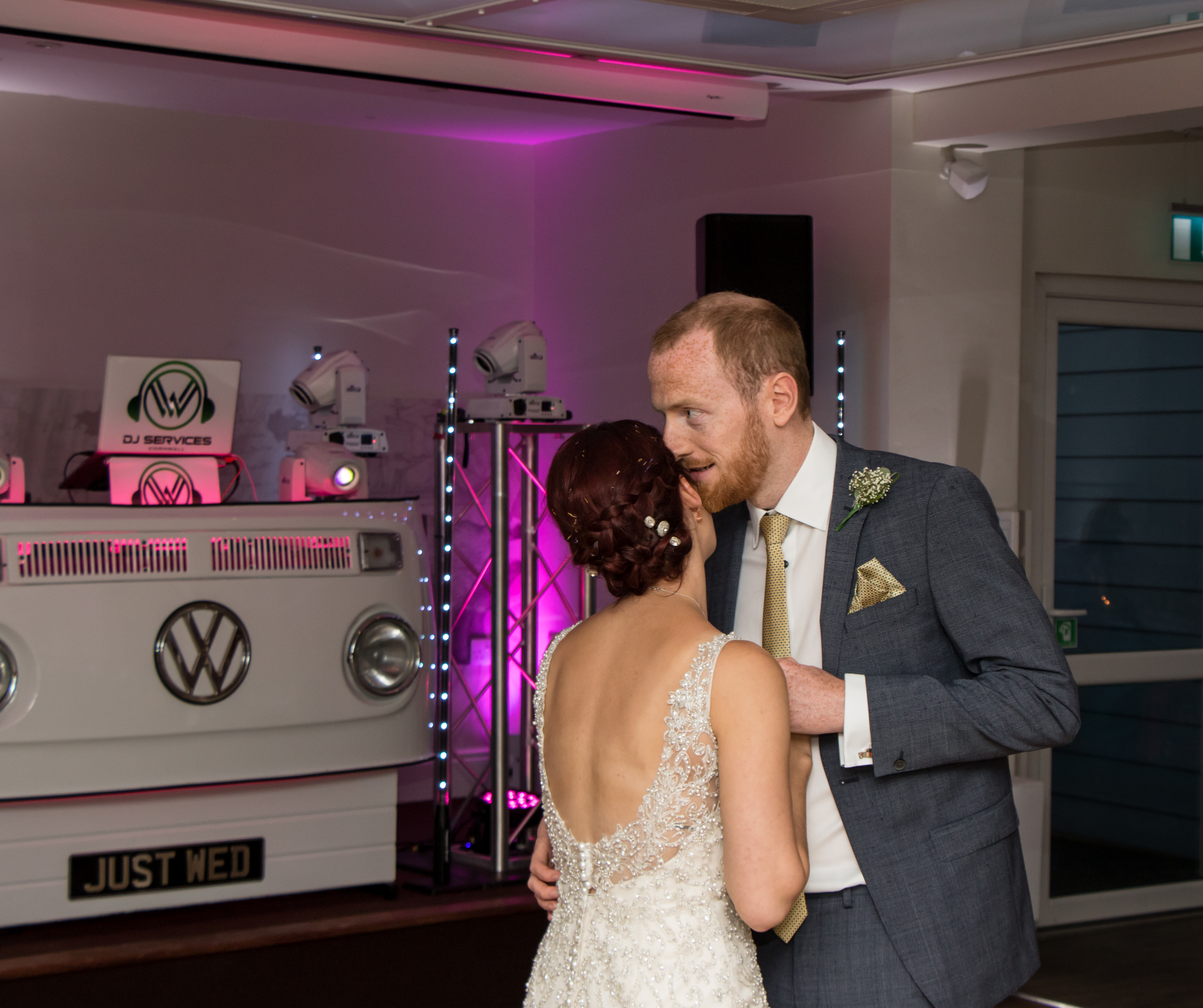 Lets get the party started with the first dance for Phill's and Sams wedding with Mobile DJ Cornwall.