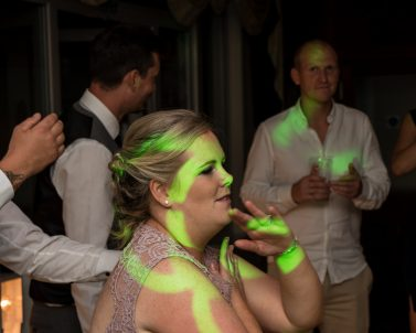 Party DJ Cornwall supplied the lighting and audio for Grant & Amy wedding at Falmouth Hotel.