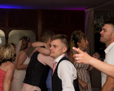 Big party celebration for Grant & Amys wedding party with party DJ Cornwall.