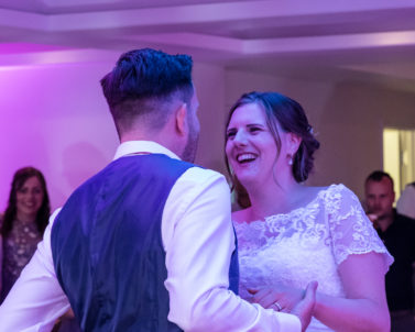 Marc & Kirsty Dancing the night away with their guests and family with mobile DJ Cornwall