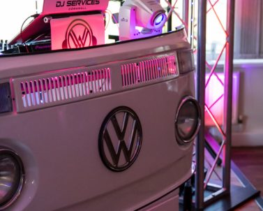 VW DJ Booth all ready for the big party with Mobile DJ Cornwall at St Austell Golf Club.