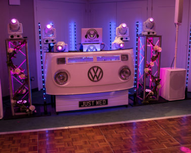 Our Set up for tonights Wedding DJ in Cornwall