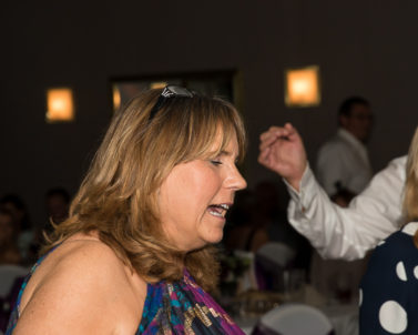 This lady knows how to have fun on the dance floor with mobile DJ Cornwall.