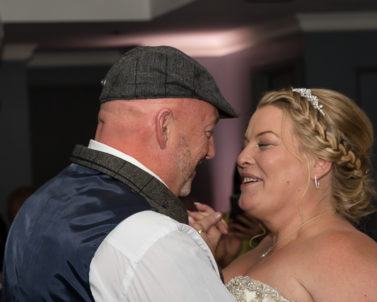 The first dance for the happy bride and groom with wedding DJ Cornwall.