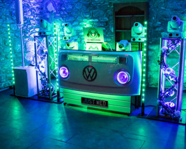 Our Premium Venue & Booth Uplighting getting the Party Started in Cornwall
