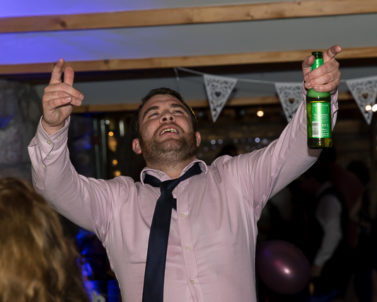 Loving the great party atmosphere created by Wedding DJ Cornwall banging out the bug tunes.