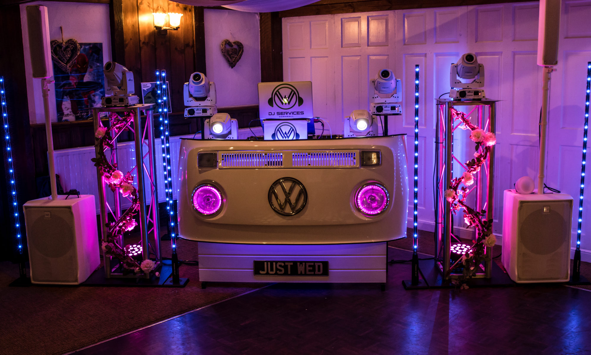 Wedding DJ DJ Services Cornwall setting the mood.
