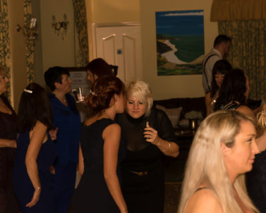 The ladies taking a breather from the party to have a chat while the tunes banging out by Party DJ Cornwall.