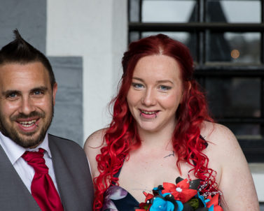 The happy couples big wedding day at Bodmin Jail with Wedding DJ Cornwall.