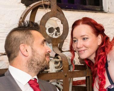 Greg & Gemma Wedding Day Sun 4th Nov 2018 Bodmin Jail with Wedding DJ Cornwall proving both photography and audio and lighting.