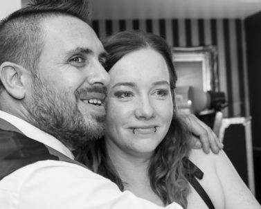 Big smiles all round with wedding Dj Cornwall.
