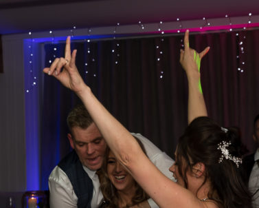 The Brides dance floor action showing us all how its done with Wedding DJ Cornwall.