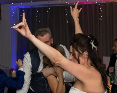 The Bride on the dance floor making the big moves with Wedding DJ Cornwall.