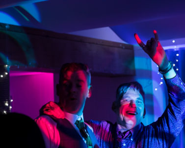 Family bound, son and father banging out the big tunes on the dance floor with party DJ Cornwall at the helm.