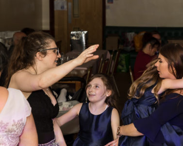 Young child showing the old ones how to move on the dance floor with Wedding DJ Cornwall.