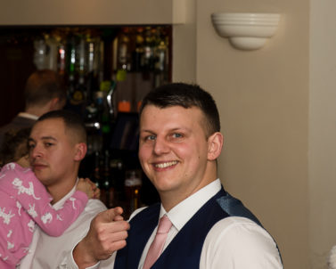 Pointing towards the epic DJ playing the best tunes with Wedding DJ Cornwall.